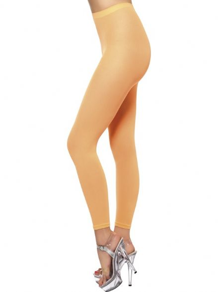1980's Neon Orange Footless Tights